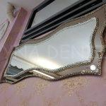 Bükümlü Çift Taş Model Taşlı Ayna-14