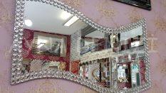 Dalgalı Taş Model Taşlı Ayna