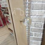 Krem Renk Ayaklı Boy Aynalı Takı Dolabı-16