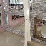 Krem Renk Ayaklı Boy Aynalı Takı Dolabı-6