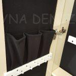 Krem Renk Ayaklı Boy Aynalı Takı Dolabı-7