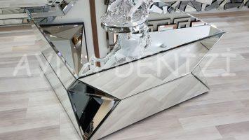 Diagonal Model Aynalı Orta Sehpa