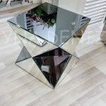 Diagonal Model Aynalı Yan Sehpa-1
