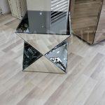 Diagonal Model Aynalı Yan Sehpa-2