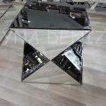 Diagonal Model Aynalı Yan Sehpa-4