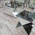 Diagonal Model Aynalı Yan Sehpa-6