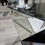 Diagonal Model Aynalı Yan Sehpa-7