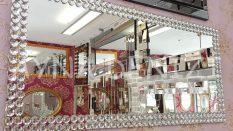 Dikdörtgen Taş Model Taşlı Ayna