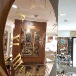 Muri Model Bakır Renk Aynalı Duvar Saati-5