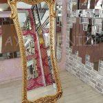 Bihter Model Altın Renk Ayaklı Boy Aynası-1