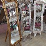 Bihter Model Altın Renk Ayaklı Boy Aynası-19