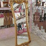 Bihter Model Altın Renk Ayaklı Boy Aynası-2