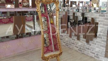 Bihter Model Altın Renk Ayaklı Boy Aynası