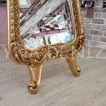 Bihter Model Altın Renk Ayaklı Boy Aynası-8