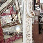 Bihter Model Eskitme Beyaz Renk Ayaklı Boy Aynası-12