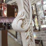 Bihter Model Eskitme Beyaz Renk Ayaklı Boy Aynası-13