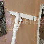 Bihter Model Eskitme Beyaz Renk Ayaklı Boy Aynası-14