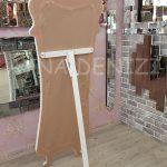 Bihter Model Eskitme Beyaz Renk Ayaklı Boy Aynası-15