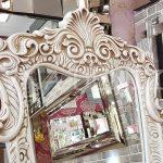 Bihter Model Eskitme Beyaz Renk Ayaklı Boy Aynası-4