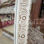 Bihter Model Eskitme Beyaz Renk Ayaklı Boy Aynası-7