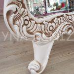 Bihter Model Eskitme Beyaz Renk Ayaklı Boy Aynası-8