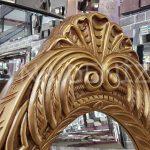 Zarif Model Altın Renk Ayaklı Boy Aynası-10