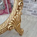 Zarif Model Altın Renk Ayaklı Boy Aynası-13