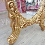 Zarif Model Altın Renk Ayaklı Boy Aynası-14