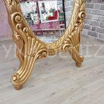 Zarif Model Altın Renk Ayaklı Boy Aynası-15