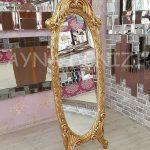 Zarif Model Altın Renk Ayaklı Boy Aynası