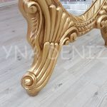 Zarif Model Altın Renk Ayaklı Boy Aynası-16