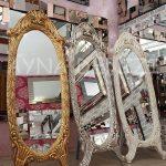 Zarif Model Altın Renk Ayaklı Boy Aynası-21