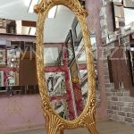 Zarif Model Altın Renk Ayaklı Boy Aynası-3