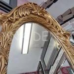 Zarif Model Altın Renk Ayaklı Boy Aynası-5