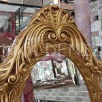 Zarif Model Altın Renk Ayaklı Boy Aynası-6