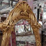 Zarif Model Altın Renk Ayaklı Boy Aynası-7