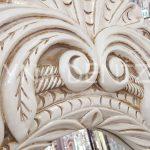 Zarif Model Eskitme Beyaz Renk Ayaklı Boy Aynası-10