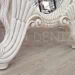 Zarif Model Eskitme Beyaz Renk Ayaklı Boy Aynası-14
