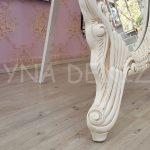 Zarif Model Eskitme Beyaz Renk Ayaklı Boy Aynası-15