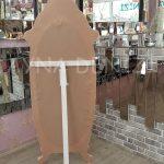 Zarif Model Eskitme Beyaz Renk Ayaklı Boy Aynası-17