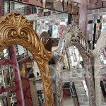 Zarif Model Eskitme Beyaz Renk Ayaklı Boy Aynası-23