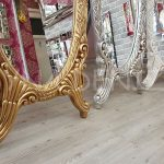 Zarif Model Eskitme Beyaz Renk Ayaklı Boy Aynası-24