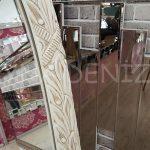 Zarif Model Eskitme Beyaz Renk Ayaklı Boy Aynası-9