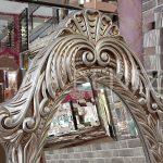 Zarif Model Gümüş Renk Ayaklı Boy Aynası-10