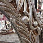Zarif Model Gümüş Renk Ayaklı Boy Aynası-11
