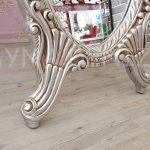 Zarif Model Gümüş Renk Ayaklı Boy Aynası-14