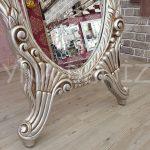 Zarif Model Gümüş Renk Ayaklı Boy Aynası-15