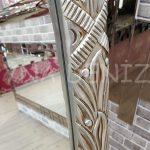 Zarif Model Gümüş Renk Ayaklı Boy Aynası-16
