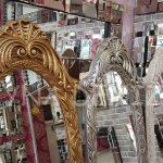Zarif Model Gümüş Renk Ayaklı Boy Aynası-23