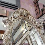 Zarif Model Gümüş Renk Ayaklı Boy Aynası-8